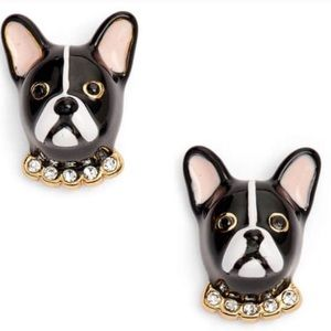 🛍 Playful, French Bulldog Kate spade earrings.
